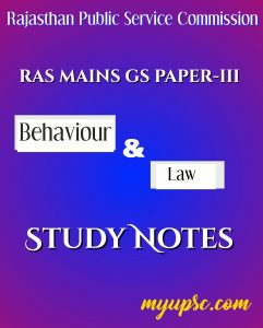 RAS MAINS EXAM PAPER-3 STUDY NOTES