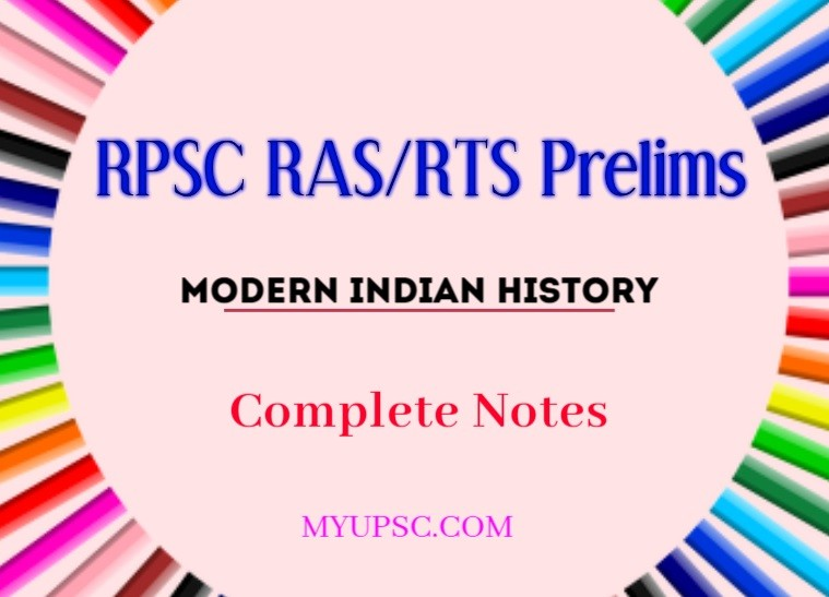 Modern Indian History for RPSC RAS Prelims Exam